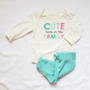 Other - Cute runs in the Family long sleeve bodysuit
